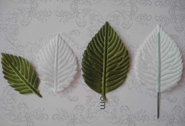 Сделать листики из ткани