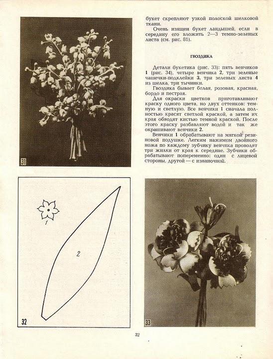 описание изготовления цветов из ткани23