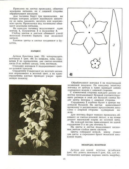 Книга по изготовлению цветов шаблоны